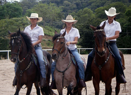 3 hoseback riders at the Equestrian Center in Lomas del Mar Costa Rica